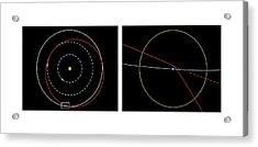 Orbit Of Near-earth Asteroid Apophis Acrylic Print by Mikkel Juul Jensen