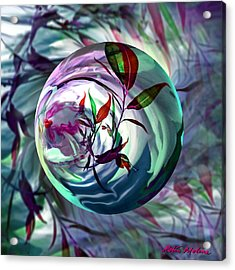 Orbiting Cranberry Dreams Acrylic Print by Robin Moline