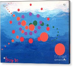 Acrylic Print featuring the painting Orbs Under Water by Rod Ismay