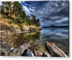Acrylic Print featuring the photograph Orcas Island Waterfront by John King