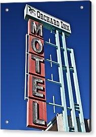Acrylic Print featuring the photograph Orchard Inn Motel by Gigi Ebert