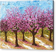 Orchard Acrylic Print by Katherine Young-Beck