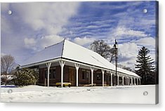 Orchard Park Depot Acrylic Print by Peter Chilelli