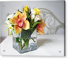 Orchid Bouquet Acrylic Print by Irina Sztukowski