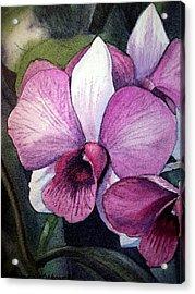 Orchid Acrylic Print by Irina Sztukowski