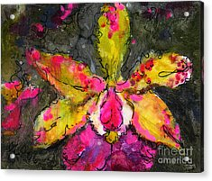 Orchid Modern Expressive Painting Acrylic Print