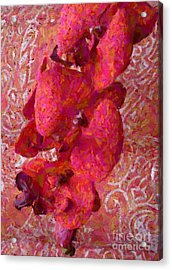 Orchid On Fabric Acrylic Print