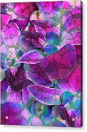 Acrylic Print featuring the photograph Orchid Splash by Diane Alexander