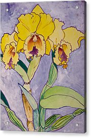Orchid Study Acrylic Print
