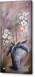 Orchids Acrylic Print by Home Art