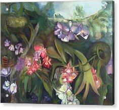Orchids I Acrylic Print by Susan Hanlon