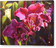 Orchids In Magenta Acrylic Print