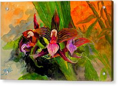 Acrylic Print featuring the painting Orchiid by Jason Sentuf