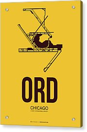 Ord Chicago Airport Poster 1 Acrylic Print by Naxart Studio