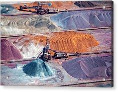 Ore And Conveyor Belt Aerial Acrylic Print