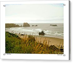 Acrylic Print featuring the digital art Oregon Beach by Kenneth De Tore
