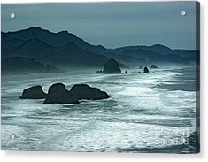 Oregon Cannon Beach Acrylic Print by Nur Roy