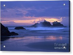 Oregon Coast Sunset Acrylic Print by Chris Scroggins