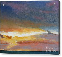 Oregon Coast Sunset Acrylic Print by Melody Cleary