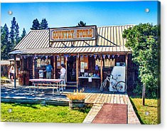 Oregon Country Store Acrylic Print by Bob and Nadine Johnston
