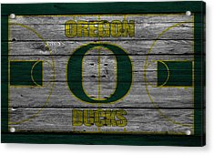 Oregon Ducks Acrylic Print by Joe Hamilton