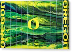 Oregon Football Acrylic Print