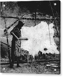 Oregon Hide Scraping, 1939 Acrylic Print