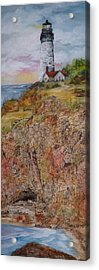 Oregon Lighthouse With Over 200 Hide And Seek Marine Life Objects Acrylic Print