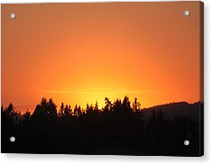 Oregon Sunset Acrylic Print by Melanie Lankford Photography