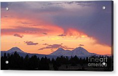Oregon's Three Sisters  Acrylic Print