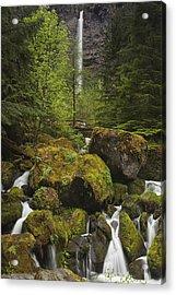 Oregon's Watson Falls Acrylic Print by Andrew Soundarajan
