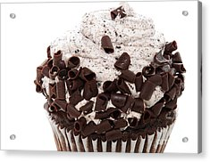 Oreo Cookie Cupcake 2 Acrylic Print by Andee Design