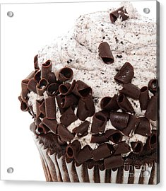 Oreo Cookie Cupcake 3 Acrylic Print by Andee Design