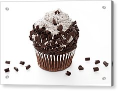 Oreo Cookie Cupcake Acrylic Print by Andee Design