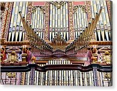 Organ In Cordoba Cathedral Acrylic Print by Artur Bogacki