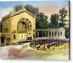 Organ Pavilion Sunset Acrylic Print