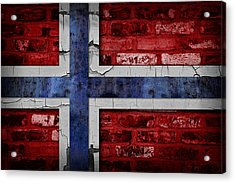 Organic Norway Flag Acrylic Print