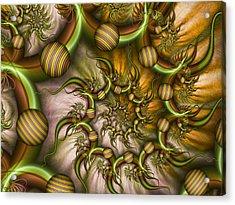 Acrylic Print featuring the digital art Organic Playground by Gabiw Art