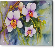 Orchids In My Garden Acrylic Print