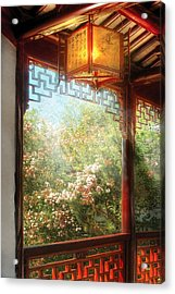 Orient - Lamp - Simply Chinese Acrylic Print by Mike Savad