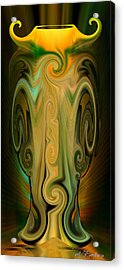 Acrylic Print featuring the digital art Orient - The Jar by rd Erickson
