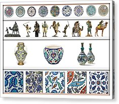 Oriental Ceramics Pottery And Bronze Art Collection Acrylic Print by Celestial Images