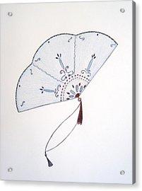 Oriental Fan Acrylic Print by Christine Corretti