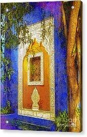 Oriental Mood Acrylic Print by Mo T