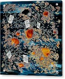 Oriental Moonlight Acrylic Print by Carolyn Doe