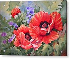Oriental Poppy Acrylic Print