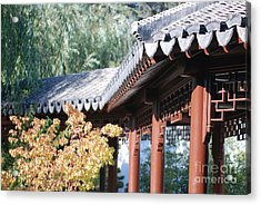 Acrylic Print featuring the photograph Oriental Roof by George Mount