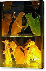Origami Acrylic Print by Leena Pekkalainen