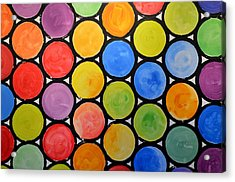 Original Abstract Painting Circles Print ... Watercolor Windows Acrylic Print by Amy Giacomelli