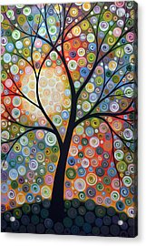 Original Abstract Tree Landscape Art Painting ... Waiting For The Moon Acrylic Print